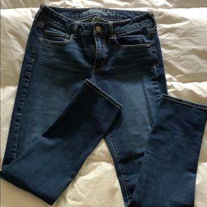 AE skinny jeans size 8